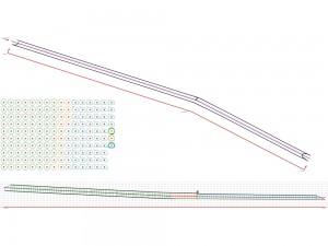 Planta, seccions transversals i perfil longitudinal d'una tuberia ARMCO.
